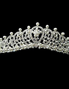 Chic Alloy With Rhinestone And Pearl Bridal Tiara