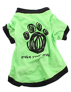 Make Your Mark koirien puuvilla t-paita (vihreä, kokovalikoima)