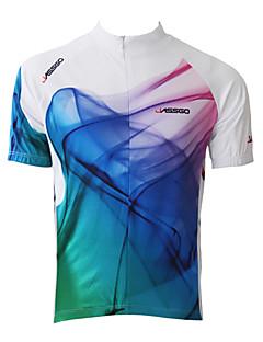 jassgo - Mens korte ærmer cykling trøje med 100% polyester