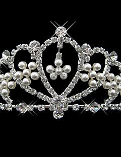Vrouwen Licht Metaal Helm-Bruiloft / Speciale gelegenheden Tiara's Zoals de Afbeelding Rond