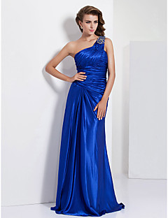 TS Couture Formal Evening / Prom / Military Ball Dress - Royal Blue Plus Sizes / Petite Sheath/Column One Shoulder Floor-length Charmeuse