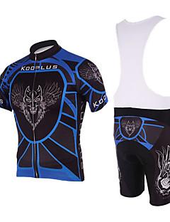 kooplus muške biciklistički dres + šorc BIB kratki rukav Quick Dry biciklističke odijela / garniture (leti vuk)