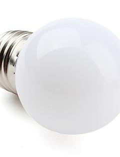 E27 1W 12x3528SMD 30LM 2700K lämmin valkoinen LED-pallolamppu (220-240V)
