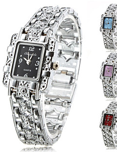 Dame Moteklokke Armbåndsur Quartz Legering Band Glitrende Elegante klokker Sølv