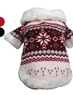 Mantel für Hunde mit Schneeflocken Design (XS-XL, verschiedene Farben)