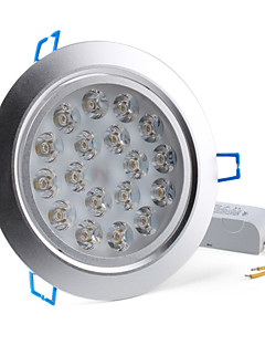 Lampes Encastrées/Plafonniers Blanc Chaud Encastrée Moderne 18 W 18 LED Haute Puissance 1800 LM 3000K K AC 85-265 V