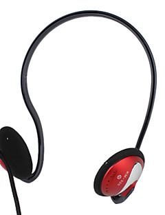 kanen calidad de sonido estéreo de banda para el cuello diseño de auriculares con micrófono y control de volumen (rojo)