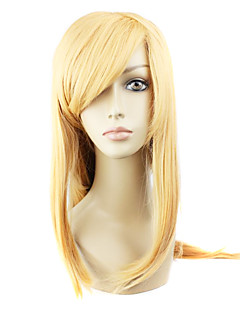 Cosplay Wigs Sword Art Online Asuna Yuuki Golden Long Anime Cosplay Wigs 90 CM Heat Resistant Fiber Female