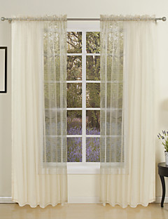 zwei Panele Window Treatment Modern , Solide Wohnzimmer Polyester Stoff Gardinen Shades Haus Dekoration For Fenster