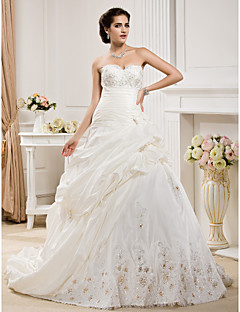 Lanting Bride® Ball Gown Petite / Plus Sizes Wedding Dress - Classic & Timeless / Elegant & Luxurious Court Train Sweetheart Taffeta
