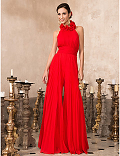 Homecoming Prom/Formal Evening Dress - Ruby Plus Sizes High Neck Floor-length Chiffon