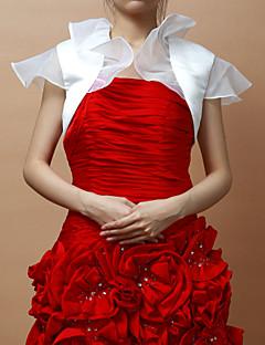 짧은 소매 새틴 특별한 날 저녁 재킷 / 꽃 결혼식 랩 (더 색) 볼레로 어깨를 으쓱