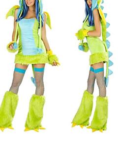 Cosplay Kostýmy / Kostým na Večírek Zvířecí Festival/Svátek Halloweenské kostýmy Zelená PatchworkŠaty / Rukavice / Návleky na nohy /