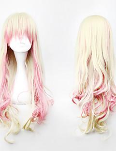 핑크와 아마의 혼합 색상 88cm의 코스프레에서 영감을 로리타 곱슬 가발