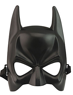 Mask Super Heroes / Bat Festival/Holiday Halloween Costumes Black Solid Mask Halloween / Carnival / New Year Unisex PVC