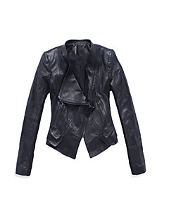 Long Sleeve Evening/Career Lambskin Leather Jacket