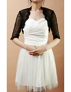 Wedding  Wraps Coats/Jackets Half-Sleeve Lace As Picture Shown Wedding / Party/Evening Open Front