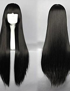 InuYasha Sango Black Long Anime Cosplay Wig