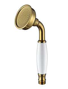 Ti-PVD Finish Contemporary Brass Handled Shower Head