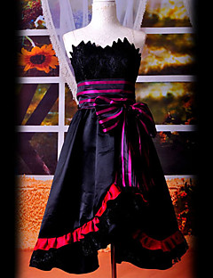Inspired by Vocaloid Megurine Luka Video Game Cosplay Costumes Cosplay Suits / Dresses Patchwork Black Sleeveless Dress / Waist Accessory