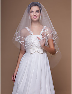 One-tier Fingertip Wedding Veils With Cut Edge (More Colors)
