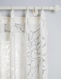 Land zwei Platten Blumen Botanik weiß Wohnzimmer Polyester Gardinen Schattierungen