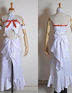 Inspirado por Sword Art Online Asuna Yuuki Anime Fantasias de Cosplay Ternos de Cosplay Patchwork Branco Sem MangasTop / Vestido /
