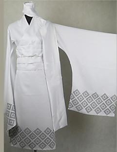 קיבל השראה מ נכדו של Nurarihyon Tsurara Oikawa אנימה תחפושות קוספליי חליפות קוספליי / קימונו דפוס לבן שרוולים ארוכיםמעיל קימונו / צעיף /