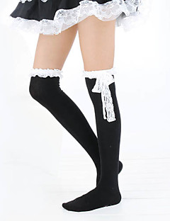 Socks/Stockings Classic/Traditional Lolita Lolita Lolita White / Black Lolita Accessories Stockings Lace For Women Cotton