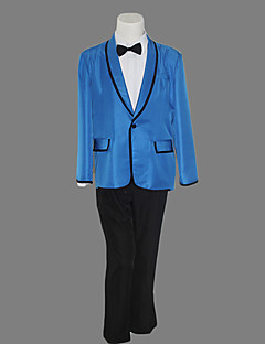 Gangnam Style Psy Dynamic Blue Suit Halloween Costume(3 Pieces)