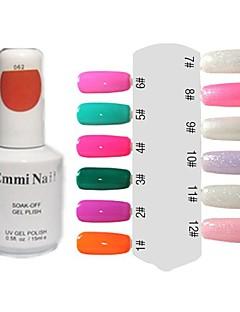 UV-Gel Färgglada Nail Art Nagellack (15 ml, 1 flaska)