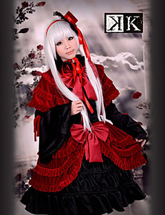 Inspired by K Anna Kushina Anime Cosplay Costumes Cosplay Suits / Dresses Patchwork Red Long Sleeve Dress / Hat / Shawl
