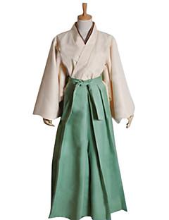 Inspired by Kamisama Kiss Mizuki Anime Cosplay Costumes Cosplay Suits / Kimono Patchwork Green Long Sleeve Kimono Coat / Hakama pants
