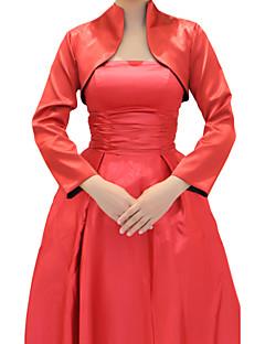 Wedding / Party/Evening Stretch Satin Coats/Jackets Long Sleeve Wedding  Wraps