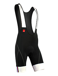 Santic Cycling Bib Shorts 82% Nylon+18% Spandex Sleeveless Professional Cycling Bib Shorts with Soft 6D Pad C05031