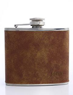 gift groomsman gepersonaliseerde bruine 5-oz fles