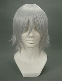 Cosplay Wigs D.Gray-man Allen Walker Gray Short Anime Cosplay Wigs 32 CM Heat Resistant Fiber Male