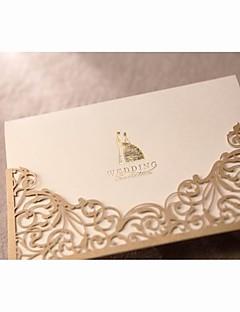 Niet-gepersonaliseerde Wikkelen & Verpakking Uitnodigingen van het Huwelijk Uitnodigingsvoorbeeld-1 Stuk/Set Klassieke Stijl Parel Papier