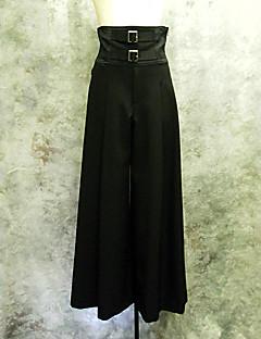 Kalhoty Gothic Lolita / Punk Lolita Elegantní Cosplay Lolita šaty Černá Jednobarevné Lolita Lolita Kalhoty Pro Dámské Bavlna