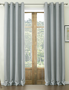 (One Panel) Floral Classic Embossed Polyester Blackout Curtain