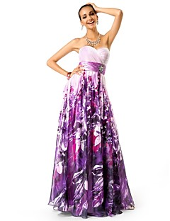 TS Couture® Prom / Formal Evening / Military Ball Dress - Floral Plus Size / Petite A-line / Princess Strapless / Sweetheart Floor-length Chiffon with