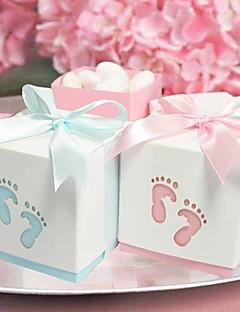 Party Favors & Gifts 12Peça/Conjunto Caixas de Ofertas Chá de Bebê Tema Praia/Tema Clássico Cúbico Não-Personalizado Papel de Cartão