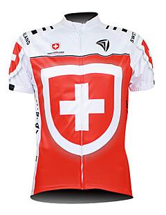 KOOPLUS® Camisa para Ciclismo Homens Manga Curta Moto Respirável / Zíper á Prova-de-Água / Zíper Frontal / VestívelCamisa/Fietsshirt /