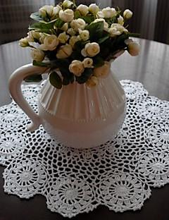 Ensemble De 4 Handmade crochet blanc Napperons look vintage