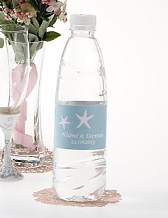 Personalisierte Trinkflasche Sticker - Starfish (Blau / Set von 15)