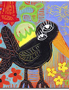 Imprimé sur toile animaux Blackbird Boogie par Sara Catena avec cadre étiré