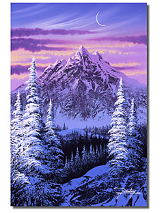Printed Canvas Art View At Dawn by Jon Rattenbury with Strethed Frame