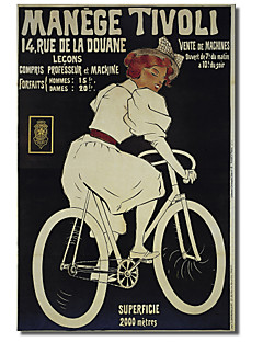 Printed Canvas Art Vintage Bike 25 by Vintage Apple Collection with Stretched Frame
