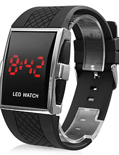 Men's Watch Red LED Calendar Silicone Strap Sport Watch Wrist Watch Cool Watch Unique Watch Fashion Watch