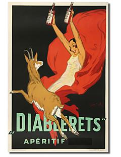 stampato Stampa su tela diablerets d'epoca da collezione mela vintage con telaio allungato